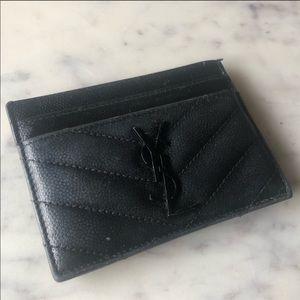 Saint Laurent Ultra Black Card Case